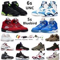 Мужские баскетбольные кроссовки Jumpman 6s UNC 5s Bluebird 1s Court Purple University Blue British Khaki Hyper Royal Pollen 1 мужские и женские спортивные кроссовки с коробкой