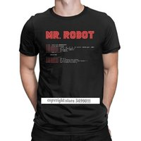 بارد السيد روبوت قمم تي شيرت برمجة مبرمج المحملات مطور كود بلايز الرجال طاقم الرقبة القطن اللياقة البدنية حجم كبير 210707