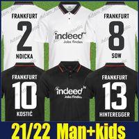 Eintracht Frankfurt Jovic Futbol Formaları Ekmek Kostic Hintegger Futbol Gömlek Paciencia Kamada Ndicka Jersey Hasebe Younes Rode Gömlek Adam Kids Kiti 2021/22 Üst