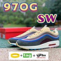 Top Calidad SW 97OG Zapatillas para correr Sean Wotherspoon Corredor Vivid Sulphur Multi Amarillo Azul Híbrido Hombre Sneakers Whit Box Shoeles 36-45