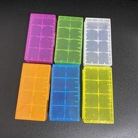 Baterias plásticas portáteis da embalagem do armazenamento da caixa da caixa da caixa da bateria plástica para 2 * 18650 ou 4 * 18350