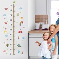 Wall Stickers Grow Up With Cute Animal Height Measure For Kids Room Decoration Owlet Safari Mural Art Diy Pvc Home Decal