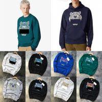 티셔츠 가을 남자 타이거 스웨트 Hoides 느슨한 동물 인쇄 브랜드 까마귀 스웨터 embrodiered pullover mens cotton material neck top kenzo