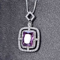 Hbp moda novo estilo quadrado cor aaa zircon pingente completo diamante luxo colar temperamento versátil cadeia de camisola