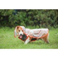 Dog Apparel Pet Hooded Raincoat Clothes Waterproof Adjustable Windproof For Outdoor UND Sale