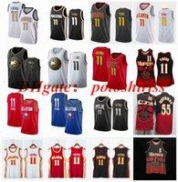 """스티치가있는 큰 야드 S-6XL Trey 11 Young Atlanta """"Hawks""""농구 유니폼 레드 화이트 8 Smith Dikembe 55 Mutombo Jersey Fans Shirt 조끼 Mens Edition City"""