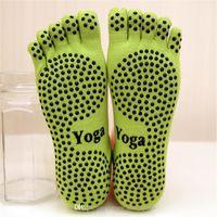 21 2018 Новый спроектирован 1 пара йога спортивные носки нескользящиеся пять носок хлопок дышащий танец йога носок весенний забавный носок