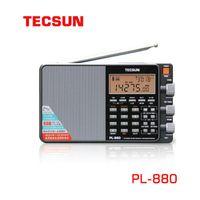 TECSUN PL-880 Radio Plein Stéréo Stéréo Stéréo Stéréo Stéréo Radio Radio Portatil am FM LW / SW / MW / SSB High-Ents, Récepteur métallique