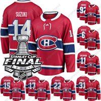 2021 Stanley Cup Final Patch Carey Preço Jersey Montreal Canadiens Nick Suzuki Shea Weber Brendan Gallagher Jesperi Kotkaniemi Josh Anderson Eric Staal Tomas Tatar