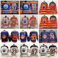 2021 Reverse Retro Edmonton-Öleer Leon Draisaitl Ethan Bear Wayne Ryan Nugent-Hopkins Gretzky McDavid Home Aways Alternate Hockey-Trikots