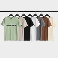 2021Ss Primavera e Verão Novo Algodão de Algodão de Alta Graia de Alta Grade de Manga Curta Rodada T-shirt T-shirt Tamanho: M-L-XL-XXL-XXXL Cor: Preto Branco P5