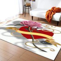 Carpets Valentine's Day For Living Room Bedroom Bedside Hallway Decoration Large Size Floor Rugs Home Kids Bathroom Mat