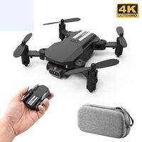 XKJ 2021 новый мини Drone 4K 1080P HD камера WiFi FPV давление воздуха высоты удерживают черную и серую складную RC Dron игрушку