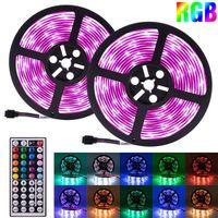 Plastica 150-LED 12V-5050 RGB IR44 Strip Strip Set con telecomando IR (piastra lampada bianca) Consegna gratuita