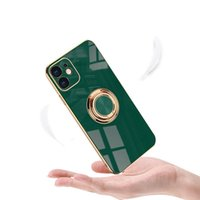 Luxury Shockproof Electroplating Ring Holder Mobile Phone Cases For iPhone 13 Pro Max 12 Electroplated Kickstand Dirt-resistant Water Resistant case