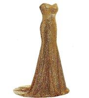 Новые 2021 эндотек Длинные сексуальные золотые королевские голубые блестки без бретелек вечерние платья Официальные вечеринки ES Vestido Jy1m