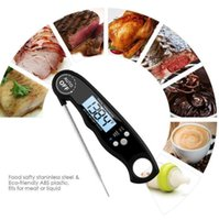 Household Thermometers Waterproof LCD Digital Instant Read Kitchen Food Cooking Backlight Electric Meat Thermometer Probe BBQ Grilling 4AEV