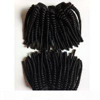 Afroamericano Brasileño Virgen Fummi Curly Hair Hair Tronco Natural Color Negro AFRO 4A 4B 4C MINK Rizado Peruano Indio Pelo Remy Humano