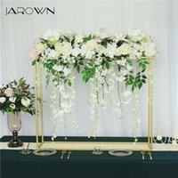 Decorative Flowers & Wreaths JAROWN Wedding Centerpiece Gold Metal Flower Stand Floral Arrangement Table Decor Home Party Wrought Iron Frame