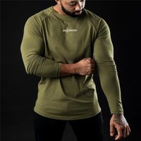 Men's T-Shirts Spring Gym Clothing Men Casual Slim Running Shirt Cotton Sports T-shirt Bodybuilding Fitness Workout Long Sleeve Tee Male