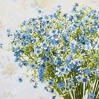 Gypsophila coloré Fleurs artificielles Longue Stette Faux Fleurs Bouquet Babys Silk Silk Mariage Fête de la maison Décoration