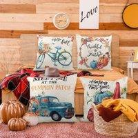Funda de almohada Material de lino creativo AlmohadaCasas de alces Letter Single Decorativo Decoración para el hogar Cojines para almohadas 45