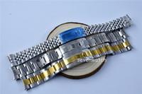 Watchband GMT SubtyJust DayDate оригинал 19 мм часы ремень ремешок полный сталь браслет изогнутые концевые часы аксессуары мужские часы оптом оптом