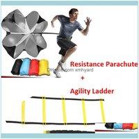 Equipo al aire libre Fitness Fitness Sports Outdoors6M 12 Rung Escalera Resistencia Paracaída de la agilidad del paracaídas para el tren de la velocidad de fútbol SOVER