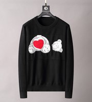 21fw осень зима Италия Париж мужские свитеры буква любовь медведь ангелы пальмовые свитер экипаж шеи пуловер высокая улица мужская женская модная мода