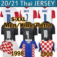 Croatia national football team 2020 2021 Mandzukic Soccer Jersey Modrric Perisic Kalinic Rakitic Kovacic 1998 الرجعية لكرة القدم الفانيلة BOBAN SUKER رجل أطقم كرة القدم