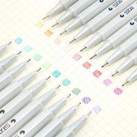 Gel Pens Korea Sakura Pen Set Fine Needle Full Black Water-based Signature Cute School Supplies Gift Stationery