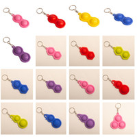 New Push Pop Bubble Fidget Keyring 3 2 Balls Autism Special ...