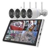 Wireless Camera Kits 1080P 3MP Wifi Dual Light Source CCTV 4CH 8CH 10.1inch LCD NVR Kit Supports TF Card XMeye ICsee App