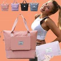 Storage Bags Large Capacity Folding Waterproof Travel Tote Handbag Duffle Women Multifunctional Drop