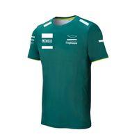 2021 Temporada F1 Camisa Fórmula 1 Equipo de carreras Ventilador Camiseta Hombres y mujeres Misma estilo de verano de manga corta