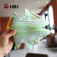 Dimi Осенняя детская обувь для девочек спортивная обувь мода повседневная мягкая вязание дышащих детей кроссовки в темноте 210309