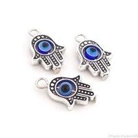 Mal Eye Pingente Beads Charms Hamsa Plam Fátima Mão Lucky Charm apto para Pulseira Colar De Bangle Jóias DIY Fazendo Acessórios Presente
