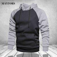 Winter Oversize Men Hoodies Long Sleeve Hooded Sweatshirt Pullover Men's Tops Blouse Pocket Pullover 4XL Thick Warm Coat Male J0611