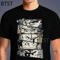 T-shirts Anime One Piece Luffy Naruto All Mot Punch Man Rolig Svart T-shirt Harajuku Ullzang T Shirt Fashion Japanese Tops