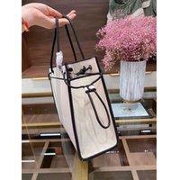 2021 جديد المألوف هينبيل حقيبة الكتف قماش الكتان المواد المألوف مزاجه حقيبة كتف نمط بسيط سيدة