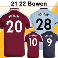 20 21 Noble Chicharito Mens 축구 유니폼 홈 레드 멀리 화이트 축구 셔츠 Wilshere Lanzini 짧은 소매 유니폼