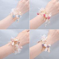 Charm Bracelets Simple Forest Bride Bridesmaid Wrist Flower Sisters Group Wedding Bracelet Super Fairy Girls Gift Jewelry