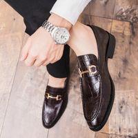 Scarpe da uomo formali Bring Brogue Shoes New High Quality Dress Crocodile Dress Shoes Maschio Casual Pelle Pelle Nelle Mocassini Plus Size 47