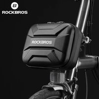 ROCKBROS Bicycle Bag Waterproof Hard Shell Bike Bags Front Electric Scooter Panniers Reflective Storage Case MTB Road Cycling Accessories