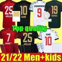 2021 2022 Bayern Ribery Hummels Soccer Jerseys FC Munich Adulte Hommes Kit Kit Kit Jeunesse 21 22 Vidal Lewandowski Muller Sane Sain Home Away 3ème 4ème Enfant Football Uniforme