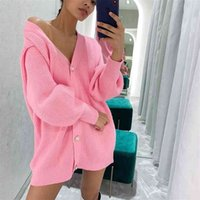 MEIYANGYOUNG V Neck knitted Sweater Cardigan women Single Breasted Oversized Cardigans crop top Autumn winter ladies sweater 210918