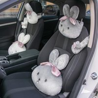 Seat Cushions Car Headrest Neck Pillows Cushion Auto Women's Seatbelt Protect Lumbar Head Rest For Waist Supplies Goods