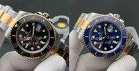 Homens relógios de pulso 41mm mens preto cerâmico cerâmico v11 versão automática cal.3235 assistir 904L ouro de ouro mergulho perpétuo homens 126613 eta noobf n marca de luxo