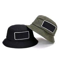 D101 Letnia Składana Bawełniana Kapelusz Kapelusze przeciwsłoneczne Słońce Kapelusze Na Outdoor Travel Sports Cap Zielony Czarny 2 Kolory