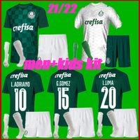 الرجال + Kids Kit 2122 Palmeiras Soccer Jersey G.Gomez G.veron L.Adriano Ramires Dudu 2021 2022 Camisas Home Setting Thailand قميص كرة القدم